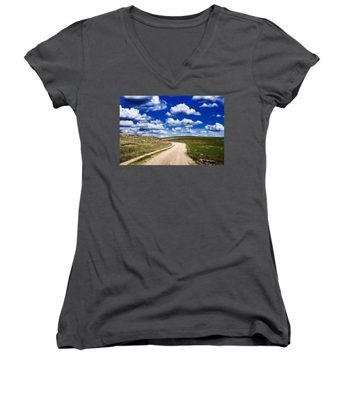 Into The Clouds Women's V-Neck T-Shirt