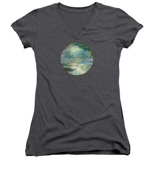 Into The Light Women's V-Neck T-Shirt (Junior Cut) by Mary Wolf