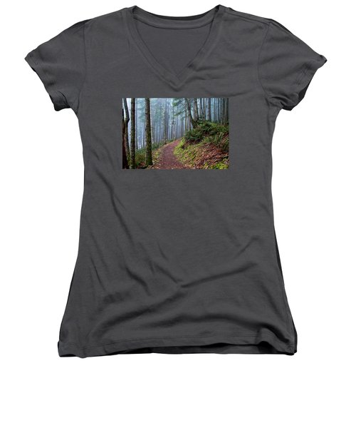 Into The Misty Forest Women's V-Neck