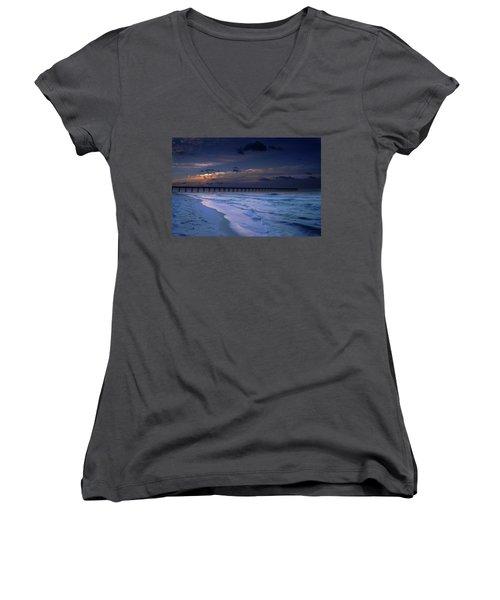 Into The Night Women's V-Neck T-Shirt
