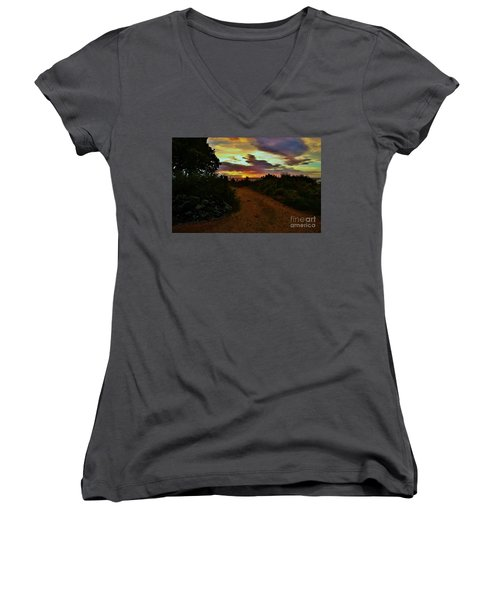 Into The Sunset Women's V-Neck (Athletic Fit)