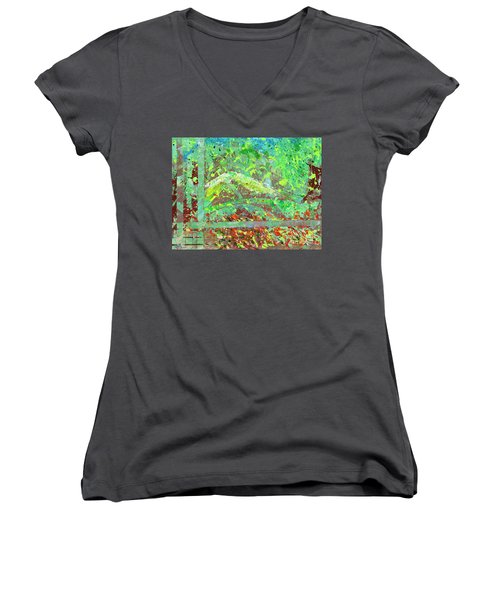 Into The Woods-through The Looking Glass Women's V-Neck