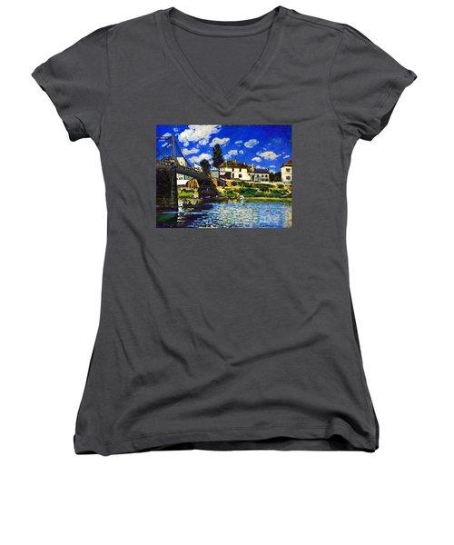 Inv Blend 14 Sisley Women's V-Neck T-Shirt (Junior Cut) by David Bridburg