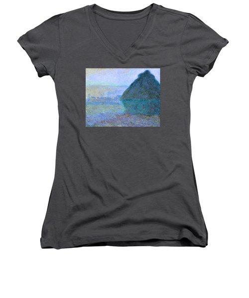 Inv Blend 21 Monet Women's V-Neck T-Shirt (Junior Cut) by David Bridburg