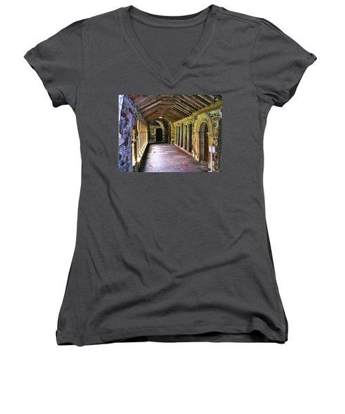 Invitation Women's V-Neck T-Shirt (Junior Cut) by Roberta Byram