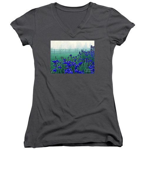 Irises At Dawn 3 Women's V-Neck (Athletic Fit)
