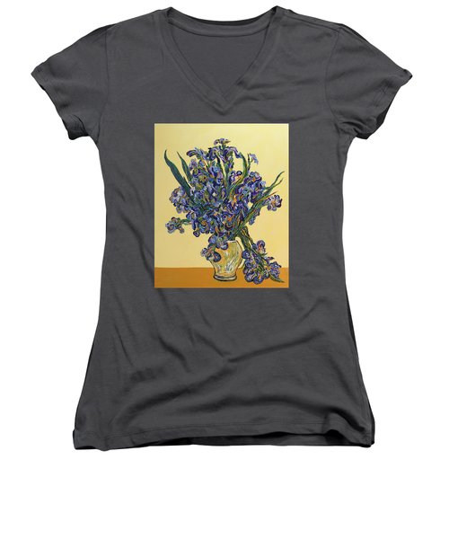 Irises  Women's V-Neck (Athletic Fit)