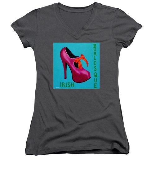 Irish Burlesque Shoe    Women's V-Neck T-Shirt