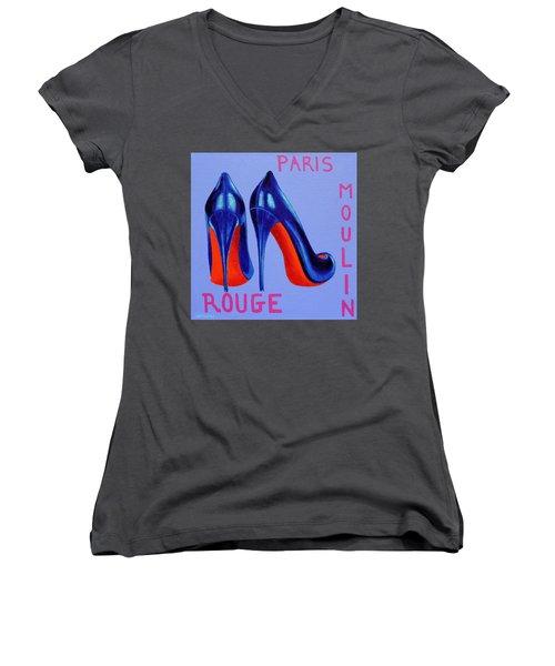Irish Burlesque Shoes Women's V-Neck T-Shirt