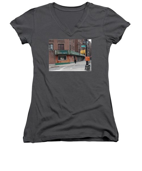 Irish Eyes Women's V-Neck T-Shirt (Junior Cut) by Cole Thompson