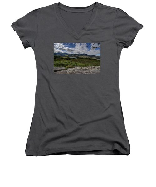 Irish Sky - Wicklow Mountains Women's V-Neck
