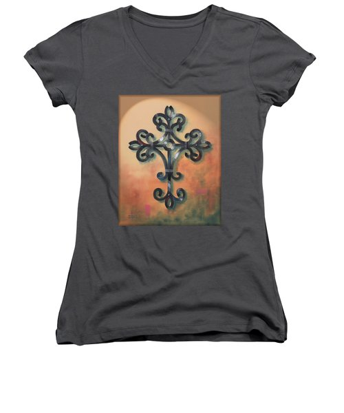 Iron Cross Women's V-Neck