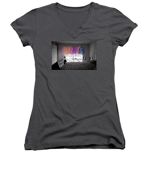 Ironing Adds Color To A Room Women's V-Neck
