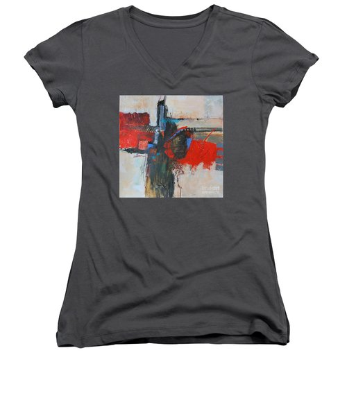 Is This The Way Out? Women's V-Neck T-Shirt (Junior Cut) by Ron Stephens