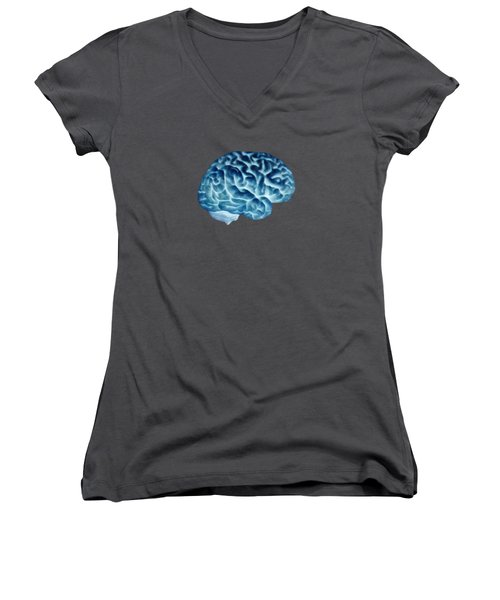 Isolated Brain Women's V-Neck (Athletic Fit)