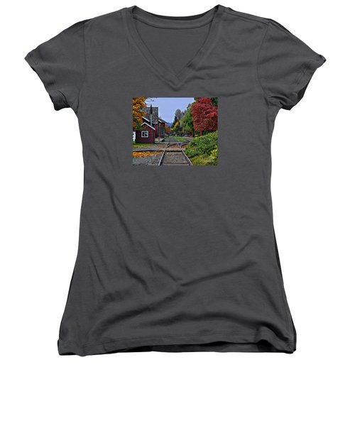 Issaquah Train Station Women's V-Neck T-Shirt