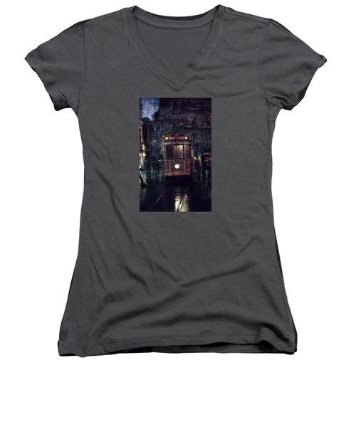 Istanbul Women's V-Neck T-Shirt (Junior Cut) by Vittorio Chiampan