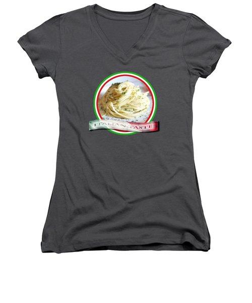 Italian Taste Spaghetti Women's V-Neck T-Shirt