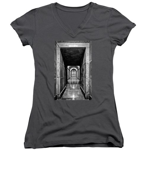 Women's V-Neck T-Shirt featuring the photograph Italian World War One Shrine #4 by Stuart Litoff