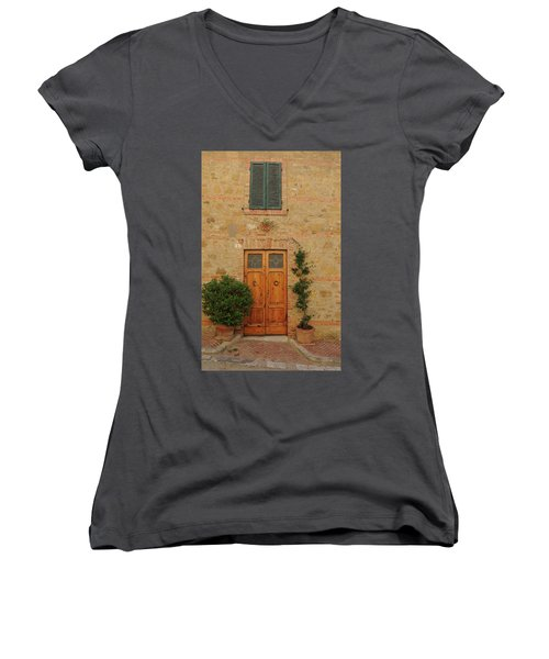 Italy - Door Nine Women's V-Neck (Athletic Fit)