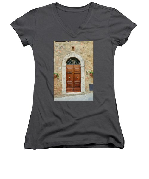 Italy - Door Twelve Women's V-Neck (Athletic Fit)
