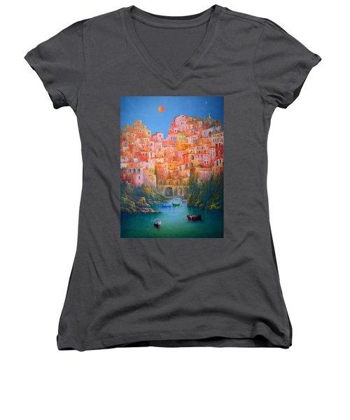 Impressions Of Italy   Women's V-Neck T-Shirt