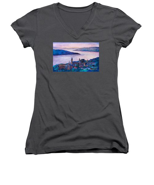 Ithaca Ny Women's V-Neck (Athletic Fit)