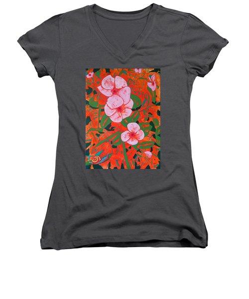 It's A Big World Women's V-Neck T-Shirt