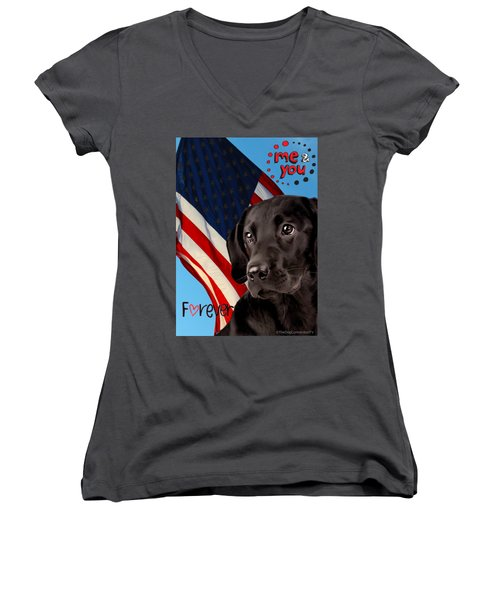 It's Just You And Me Women's V-Neck (Athletic Fit)