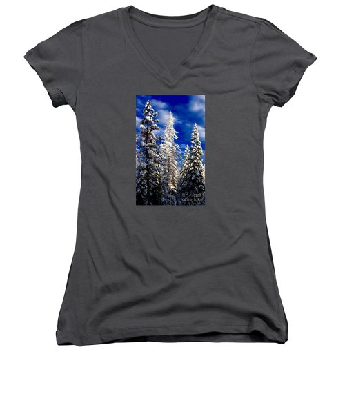 Its Now Crystal Clear Women's V-Neck T-Shirt (Junior Cut) by Jennifer Lake