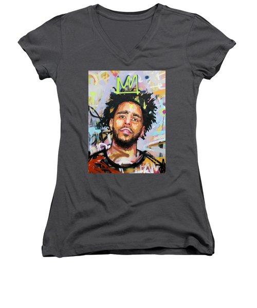 J Cole Women's V-Neck T-Shirt