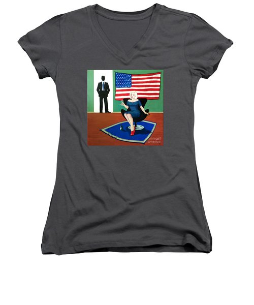Jack And Marilyn Women's V-Neck (Athletic Fit)