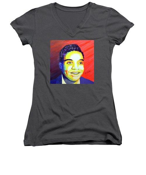Jackie Wilson Women's V-Neck T-Shirt