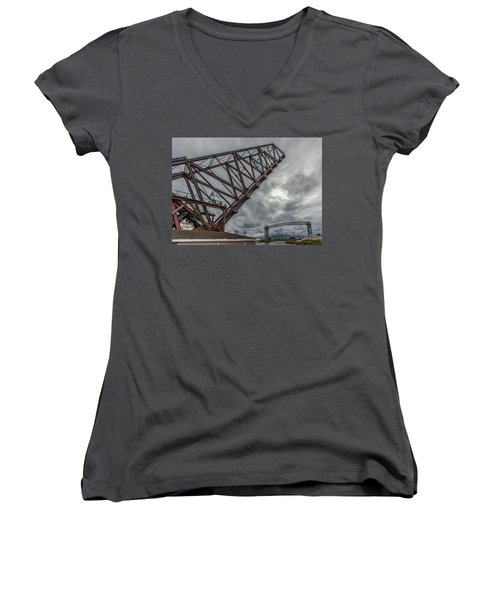 Jackknife Bridge To The Clouds Women's V-Neck (Athletic Fit)