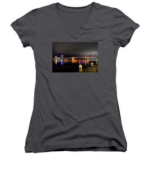 Jacksonville Night Sky Women's V-Neck