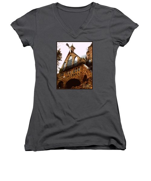 James Bishop's Castle Women's V-Neck (Athletic Fit)
