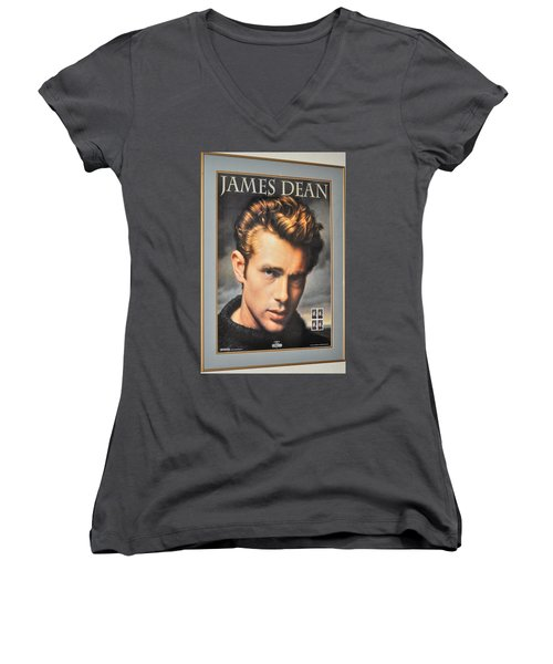 James Dean Hollywood Legend Women's V-Neck T-Shirt