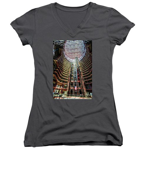 James R Thompson Center Interior Chicago Women's V-Neck (Athletic Fit)