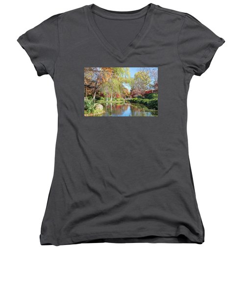 Japanese Gardens Women's V-Neck