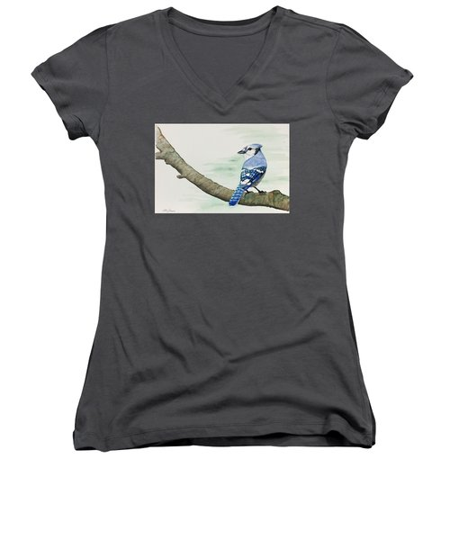 Jay In The Pine Women's V-Neck (Athletic Fit)