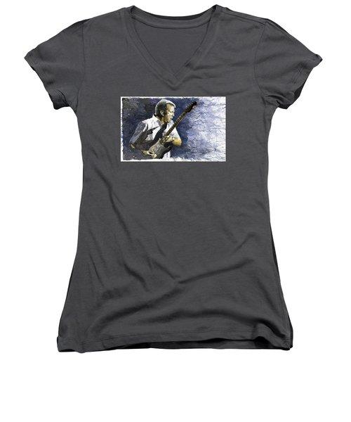 Jazz Eric Clapton 1 Women's V-Neck (Athletic Fit)