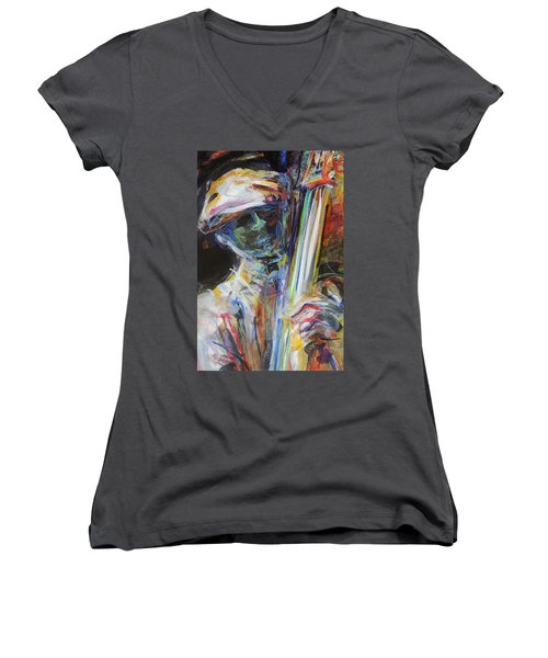 Jazz Man Women's V-Neck T-Shirt