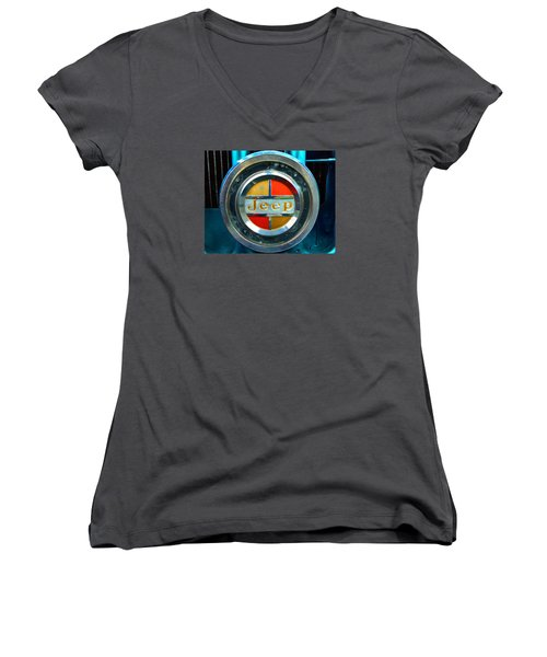 Jeep Logo 192 Women's V-Neck T-Shirt