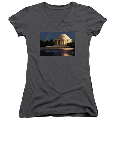 Jefferson Memorial Women's V-Neck