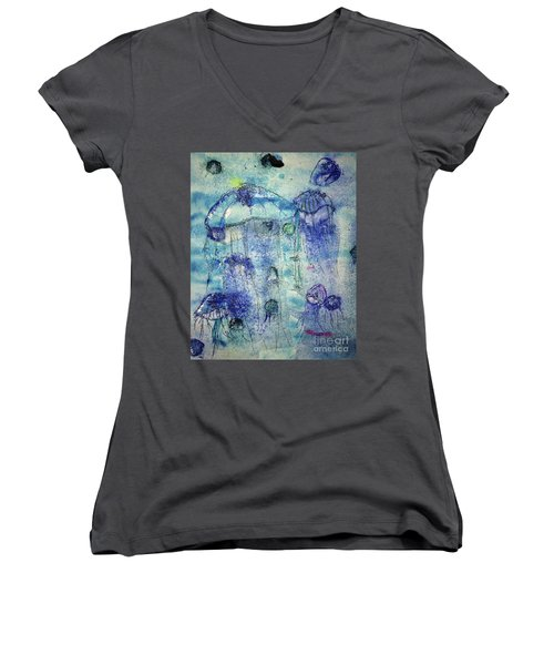 Jellyfish I Women's V-Neck