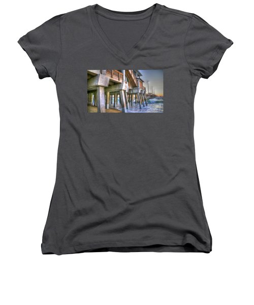 Jennette's Pier Women's V-Neck T-Shirt