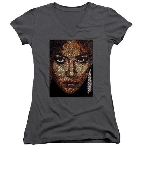 Jennifer Lopez Women's V-Neck T-Shirt