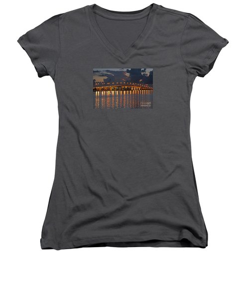 Jensen Beach Causeway Women's V-Neck T-Shirt