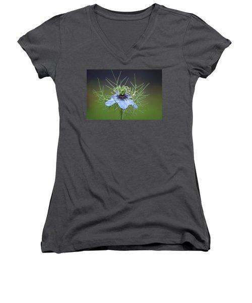 Jester's Hat Flower Women's V-Neck T-Shirt