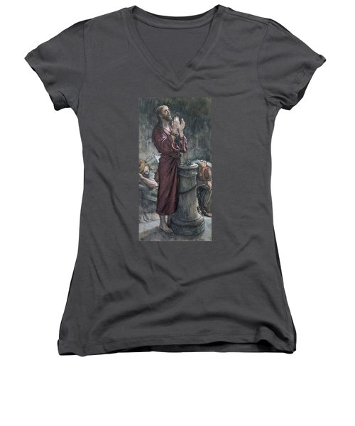 Jesus In Prison Women's V-Neck (Athletic Fit)